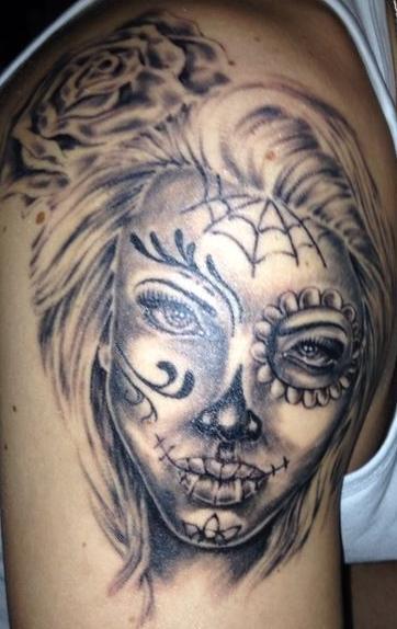 2601chris la catrina tattoos von tattoo. Black Bedroom Furniture Sets. Home Design Ideas
