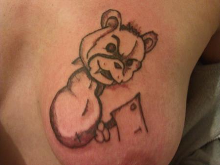 Teddybär mit Beil FX7