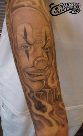chicano-Tattoo: Unterarm Tattoo ! Clown