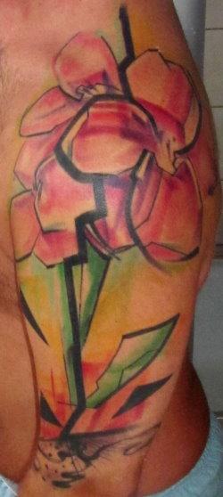 Amaryllis Blume Oberarm/Schulter