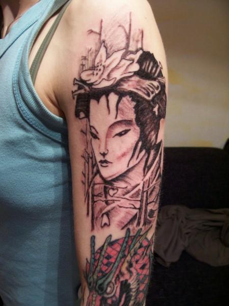 Suchergebnisse f r 39 geisha 39 tattoos tattoo - Dekollete tattoo ...