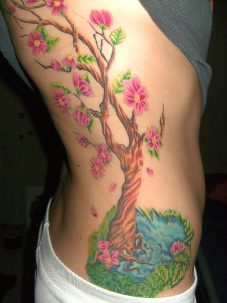 blüten-Tattoo: mein Kirschbaum