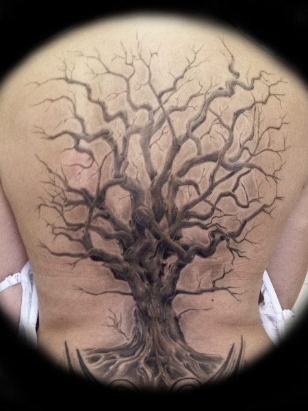 baum-Tattoo: Baum...Freehand