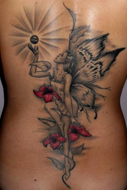 ckamoon elfe mit blick zum himmel tattoos von tattoo. Black Bedroom Furniture Sets. Home Design Ideas