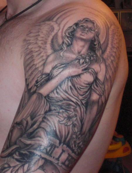 Engel-Tattoo: Engel der Sinnlichkeit