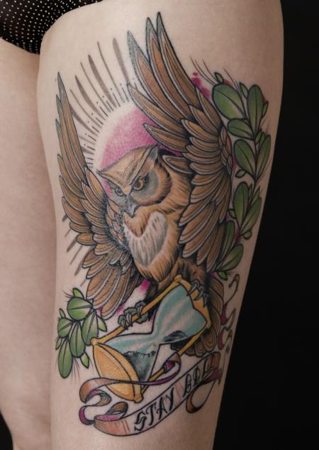 oldschool-Tattoo: Eule