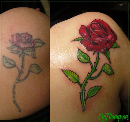 cptthompson coverup rose tattoos von tattoo. Black Bedroom Furniture Sets. Home Design Ideas