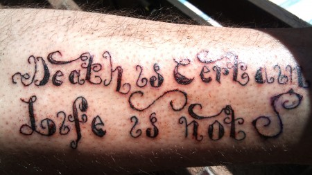 ElHuron: Death is certain,life is not | Tattoos von Tattoo-Bewertung