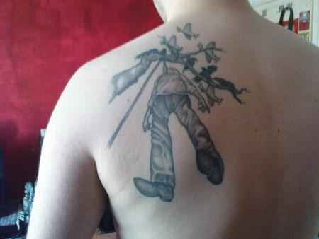 der tweety und nu auch eins vom schulterblatt tattoos von tattoo. Black Bedroom Furniture Sets. Home Design Ideas