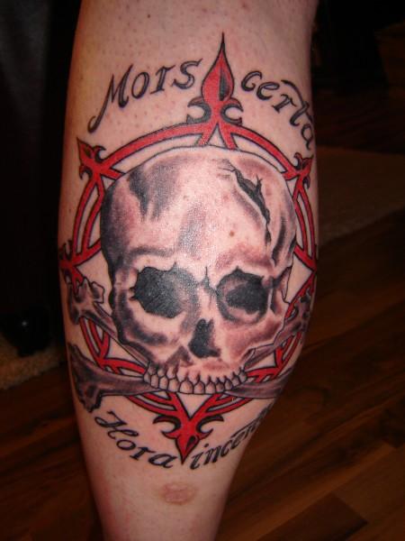 Totenschädel und Kompass