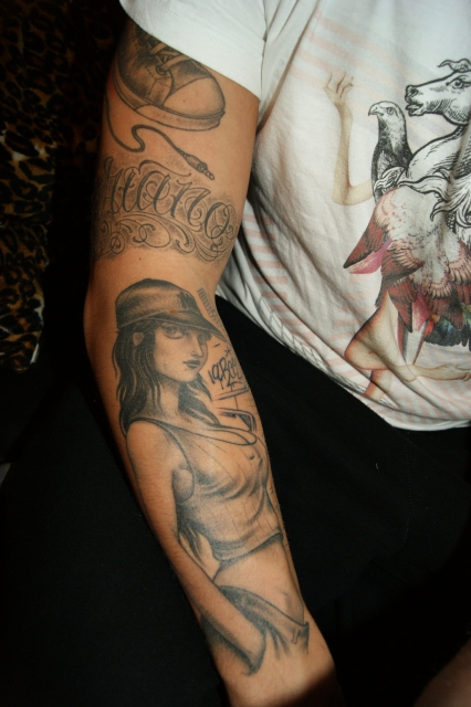 chicano-Tattoo: ganzer arm teil 2