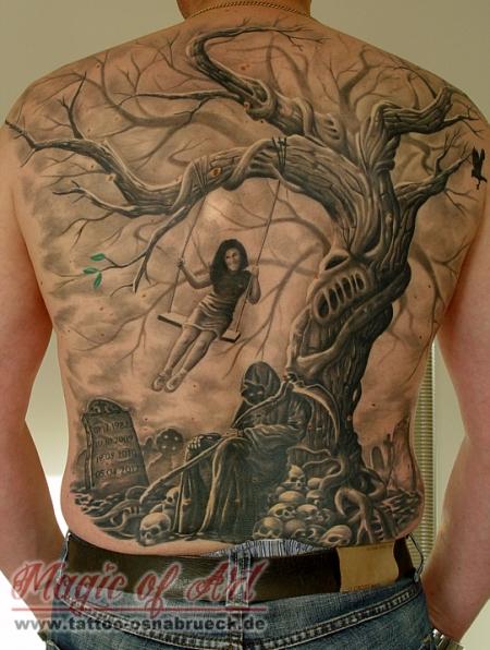 beste horror und tod tattoos tattoo lass. Black Bedroom Furniture Sets. Home Design Ideas