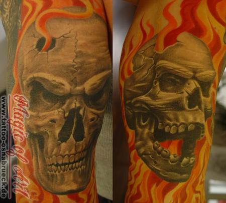flammen-Tattoo: arm