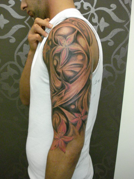 tattooflip freehand arm sleev 5 hours tattoos von tattoo. Black Bedroom Furniture Sets. Home Design Ideas
