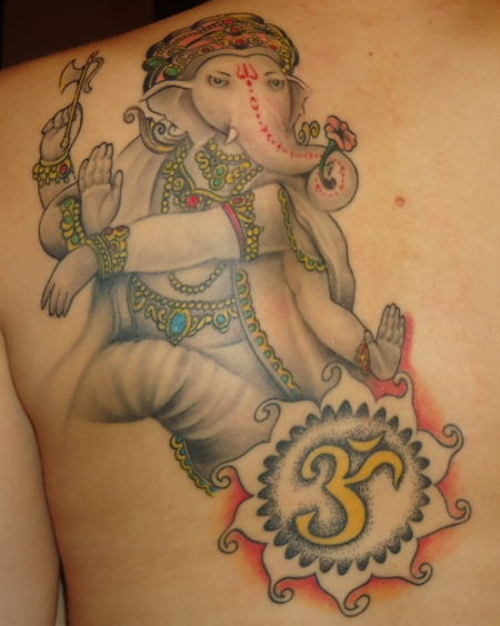 ganesha-Tattoo: Ganesha (abgeheilt)