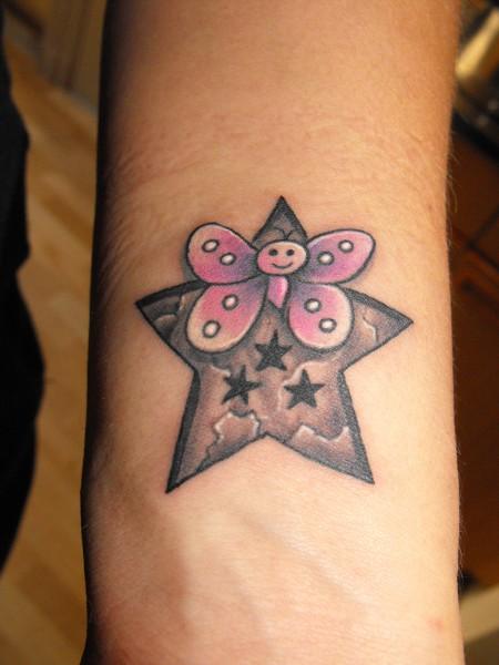 ginolennymama schmetterling sterne tattoos von tattoo. Black Bedroom Furniture Sets. Home Design Ideas