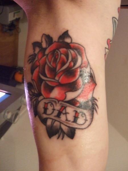 Rose für meinen Dad, frisch gestochen