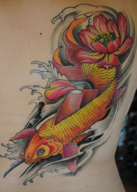 lotus-Tattoo: Mein erstes Tattoo Koi & Lotus ***jetzt fertig***16.08.2011