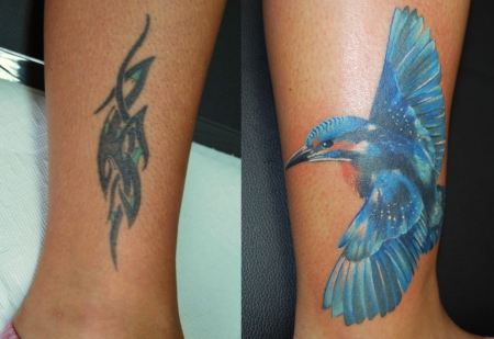 vogel-Tattoo: Kolibri