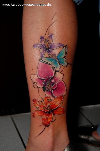 blumenranke-Tattoo: Meine erste schöne Blumenranke