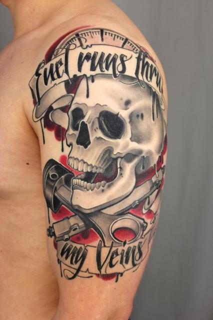 dennis cultureshocks skull tattoos von tattoo. Black Bedroom Furniture Sets. Home Design Ideas