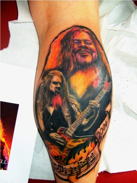 gitarre-Tattoo: Tribute to Dimebag