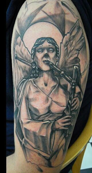 Engel mit Dudelsack