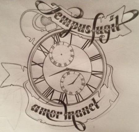 Skizze für Familien-Tattoo