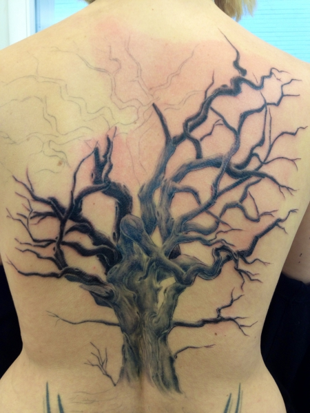 herrfalkenhorst baum freehand tattoos von tattoo. Black Bedroom Furniture Sets. Home Design Ideas