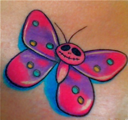 quietschbunter Schmetterling