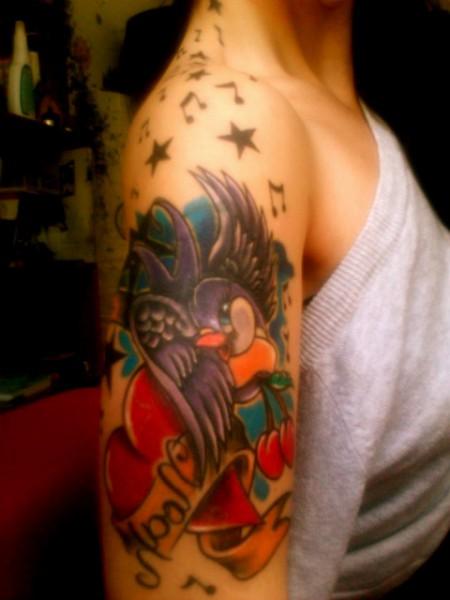 Schwalben Tattoo ♫♥♥