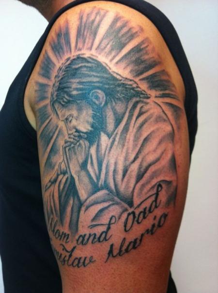familie-Tattoo: Jesus für die Familie!!
