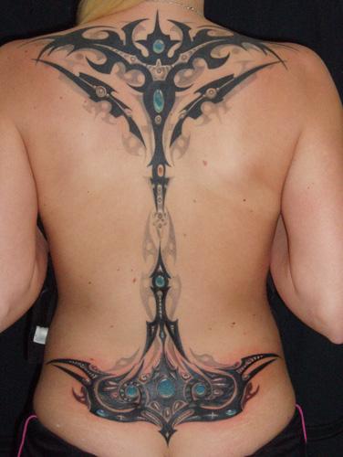 Der Rücken meiner Kollegin