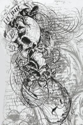 deathrider88 skull vorlage tattoos von tattoo. Black Bedroom Furniture Sets. Home Design Ideas