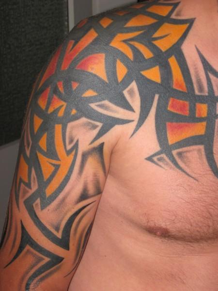 Brust und Oberarm