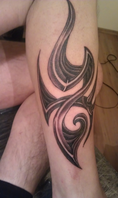 Black and Grey Tribal Tattoo