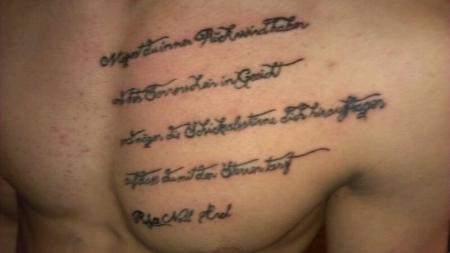 Erstes Tattoo..