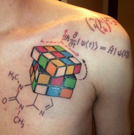 würfel-Tattoo: theoretisch lösbar