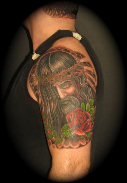 jesus-Tattoo: Jesus Porträt