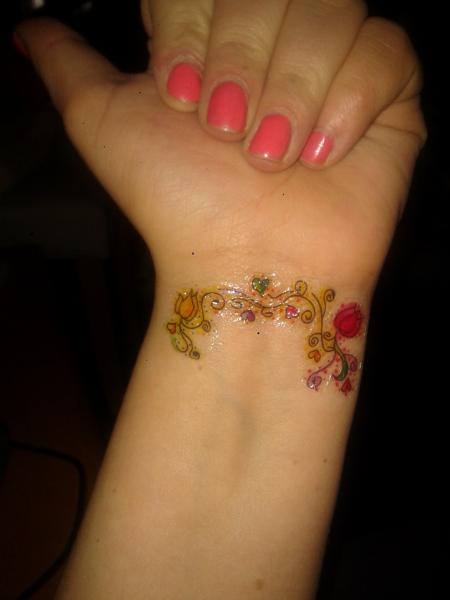Blumen am arm