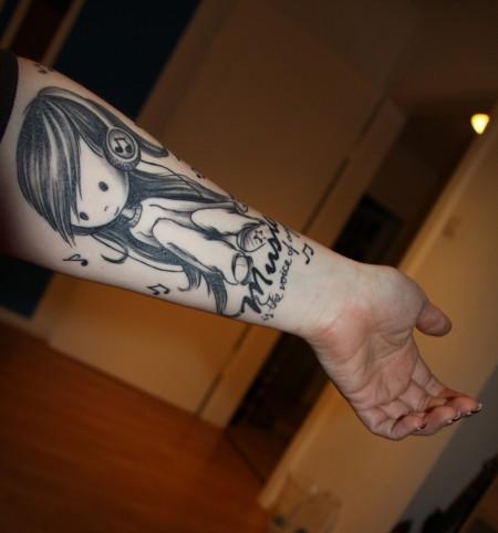 mädchen-Tattoo: So noch einmal
