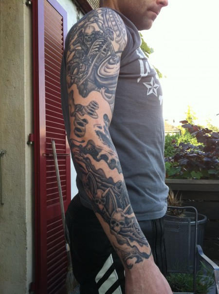 Full Sleeve Black and Grey