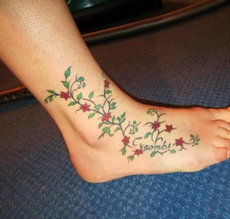 top blumenranke bunt tattoo images for pinterest tattoos. Black Bedroom Furniture Sets. Home Design Ideas