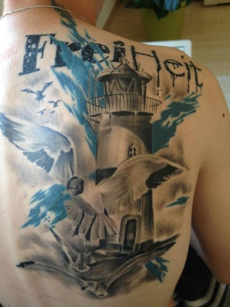 Freiheit Vögel Leuchtturm
