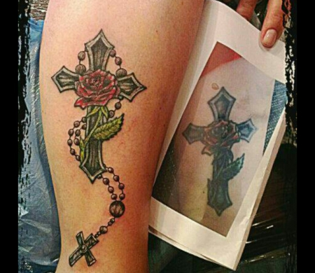 zahnfee84 erweiterung kreuz tattoos von tattoo. Black Bedroom Furniture Sets. Home Design Ideas