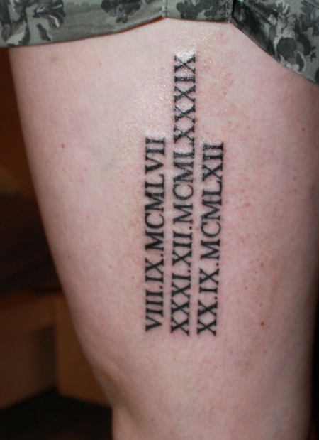 Tattoo Geburtsdatum Eltern