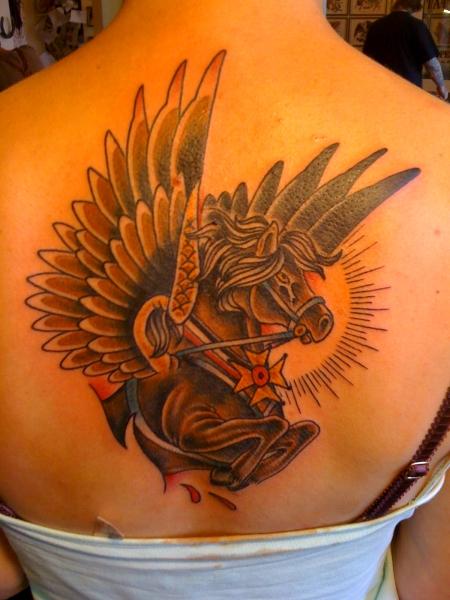 schleifen-Tattoo: Pegasus
