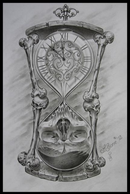 sanduhr-Tattoo: Sanduhr