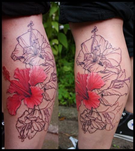 hibiskus fürs bein