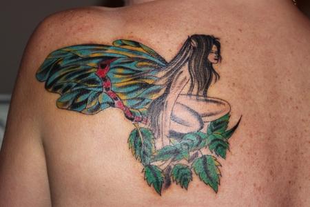 riobauer elfe auf der linken schulter tattoos von tattoo. Black Bedroom Furniture Sets. Home Design Ideas